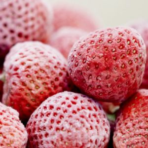 frysta jordgubbar